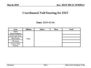 March 2019 doc IEEE 802 11 190401 r