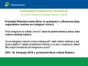 KONFERENCE KIOVATKY INTEGRACE 10 ronk konference integrace cizinc