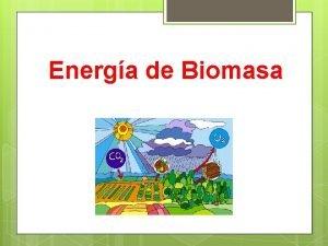 Energa de Biomasa La energa de la biomasa