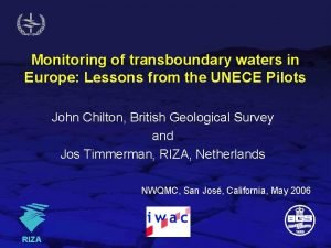 Monitoring of transboundary waters in Europe Lessons from