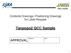 JMU143098 Contents Drawings Positioning Drawings for Label Request