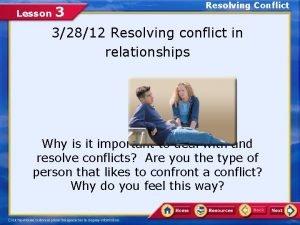 Resolving Conflict 3 32812 Resolving conflict in relationships