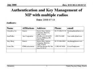 July 2008 doc IEEE 802 11 08 0317