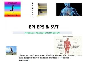 EPI EPS SVT Professeurs Mme Ysard SVT et