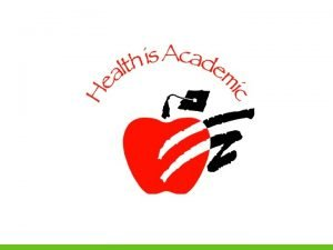 Why Coordinated School Health What is Coordinated School