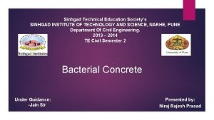 Sinhgad Technical Education Societys SINHGAD INSTITUTE OF TECHNOLOGY