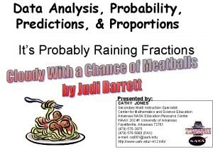 Data Analysis Probability Predictions Proportions Its Probably Raining