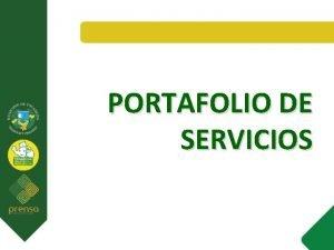 PORTAFOLIO DE SERVICIOS TRAMITES Y SERVICIOS SECRETARIA DE