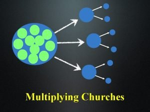 Multiplying Churches The Local Church is the only