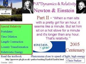 P 1 XDynamics Relativity Newton Einstein Part II