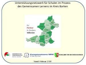 Untersttzungsnetzwerk fr Schulen im Prozess des Gemeinsamen Lernens