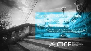 Corporate Community Impact Resources for Business Owners Rob