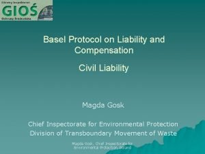 Basel Protocol on Liability and Compensation Civil Liability