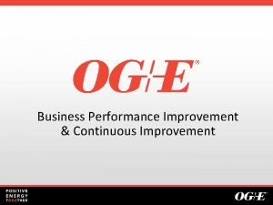 Business Performance Improvement Continuous Improvement Safety Moment Company