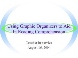 Using Graphic Organizers to Aid In Reading Comprehension