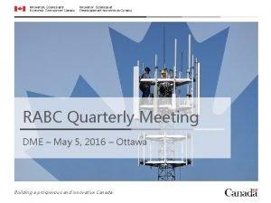 RABC Quarterly Meeting DME May 5 2016 Ottawa