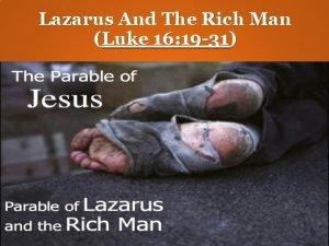 Lazarus And The Rich Man Luke 16 19