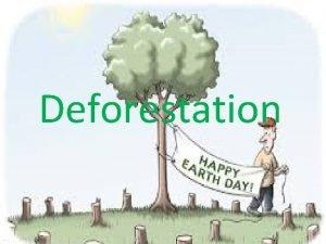 Deforestation Deforestation is the destruction of a forest