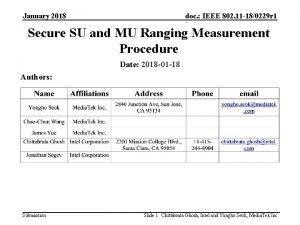 January 2018 doc IEEE 802 11 180229 r
