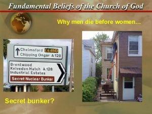 Why men die before women Secret bunker Fundamental