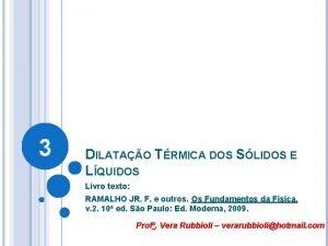 3 DILATAO TRMICA DOS SLIDOS E LQUIDOS Livro
