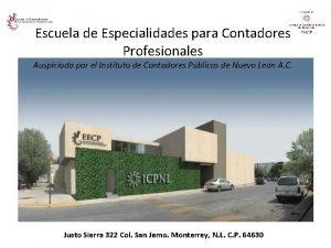 Escuela de Especialidades para Contadores Profesionales Auspiciada por