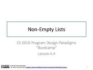 NonEmpty Lists CS 5010 Program Design Paradigms Bootcamp