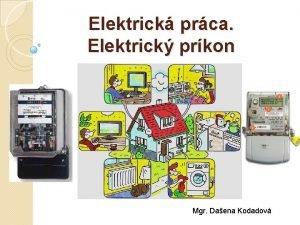Elektrick prca Elektrick prkon Mgr Daena Kodadov Zopakujeme