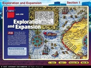 Exploration and Expansion Section 1 Exploration and Expansion