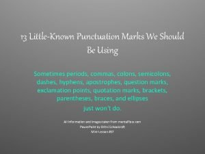 13 LittleKnown Punctuation Marks We Should Be Using