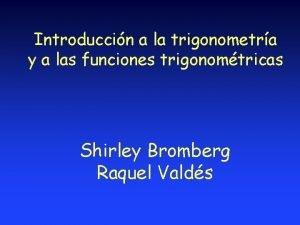 Introduccin a la trigonometra y a las funciones