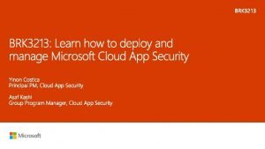 Identity Devices Apps Data Microsoft Azure Cloud apps