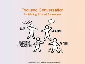 Focused Conversation Facilitating Shared Awareness California SNAPEd To