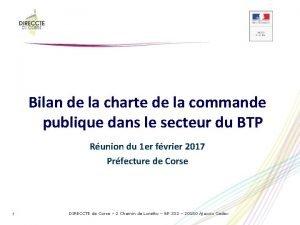 Bilan de la charte de la commande publique