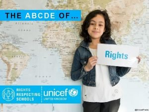 THE ABCDE OF UnicefFields A RIGHTS ARE FOR