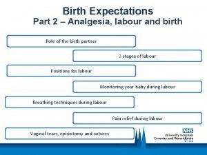Birth Expectations Part 2 Analgesia labour and birth