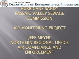 HURRICANE SANDY PASSAIC VALLEY SEWAGE COMMISSION AIR MONITORING