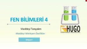 X FEN BLMLER 4 Maddeyi Tanyalm Maddeyi Niteleyen