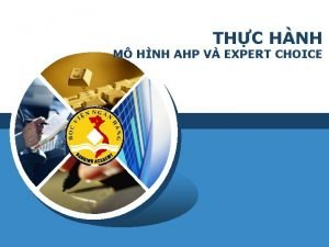 THC HNH M HNH AHP V EXPERT CHOICE
