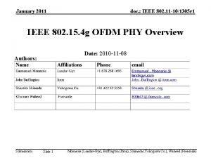 January 2011 doc IEEE 802 11 101305 r