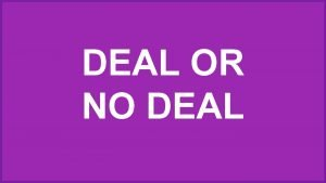 DEAL OR NO DEAL 1 2 3 4