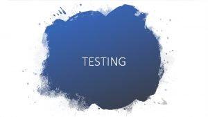 TESTING Huisarts Triagepost Patint contacteert huisarts Vermoeden COVID19