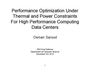 Performance Optimization Under Thermal and Power Constraints For