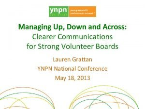 Managing Up Down and Across Clearer Communications for