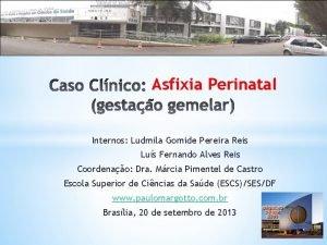 Asfixia Perinatal Internos Ludmila Gomide Pereira Reis Lus