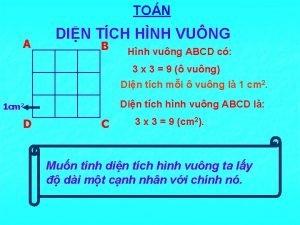 TON A DIN TCH HNH VUNG B Hnh