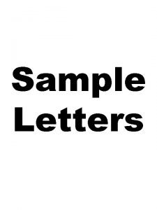 Sample Letters Editable Letters Welcome to the Discovery