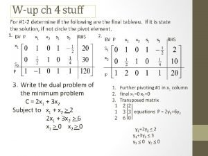 Wup ch 4 stuff For 1 2 determine