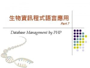 Part 7 Database Management by PHP Database Management