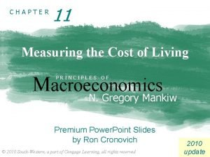 CHAPTER 11 Measuring the Cost of Living Macroeconomics